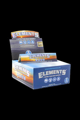 Elements Ultra Thin Kingsize Slim Rice Rolling Papers - 50 Pack