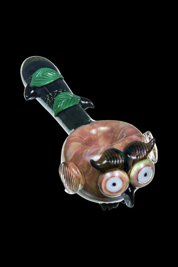 "Empire Glassworks - Owl Themed Mini Spoon Pipe - Empire Glassworks ""The Owl"" Glass Spoon Pipe"