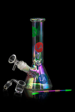 "LA Pipes Limited Edition 8"" Iridescent Disco Beaker Set"