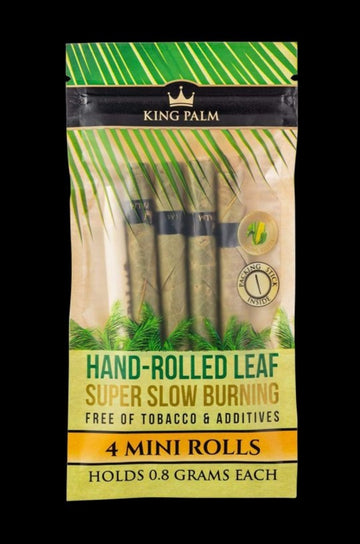 King Palm Mini Pre Rolls 4 pack - King Palm Resealable 4 Pack Mini Size Pre-Rolls