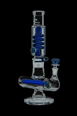Nucleus Glycerin Coil with Colored Inline Perc Bong