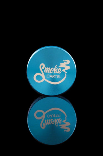 Blue - Smoke Cartel 2-Piece Aluminum Grinder - Smoke Cartel - - Smoke Cartel 2-Piece Aluminum Grinder