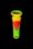 "18mm to 14mm Silicone Downstem 1"" Rasta - Unbreakable Silicone Downstem"