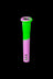 "18mm to 14mm Silicone Downstem 3"" Pink and Green - Unbreakable Silicone Downstem"