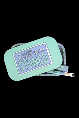 """Ugly House """"Sorry We're Stoned"""" Rolling Tray Bundle"""