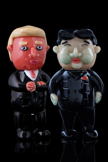 Nuclear Friends - Rocket Man & Cheeto-In-Chief Pipe Bundle - Empire Glassworks - - Nuclear Friends - Rocket Man & Cheeto-In-Chief Pipe Bundle