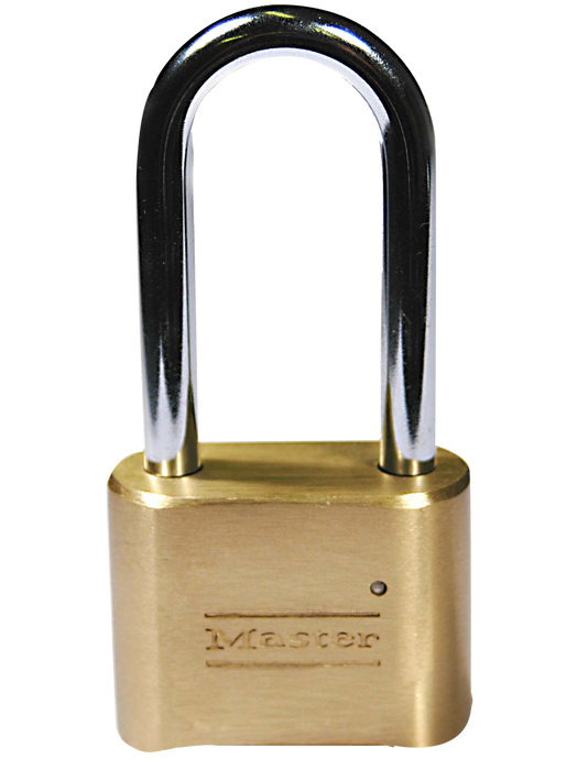 Master Lock 175LH 2 in (51mm) Wide Resettable Combination Brass Padlock with 2-1/4in (57mm) Shackle-Combination-LockPeople.com