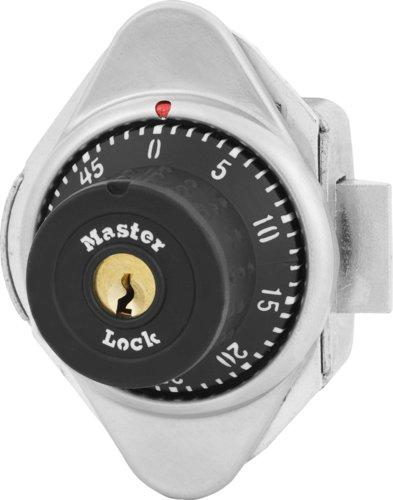 Master Lock 1671MD Built-In Combination Lock with Metal Dial for Lift Handle, Single Point and Box Lockers - Hinged on Left