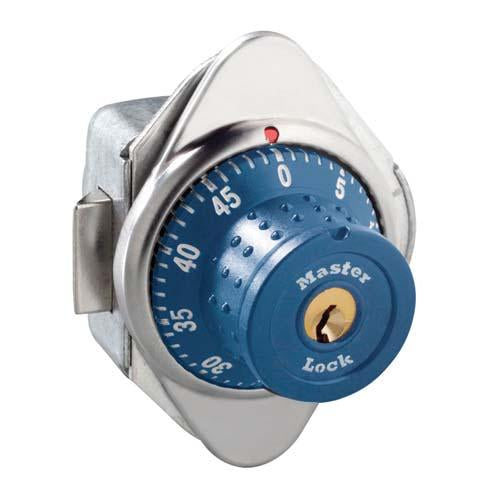 Master Lock 1654MD Built-In Combination Lock with Metal Dial for Horizontal Latch Box Lockers - Hinged on Right