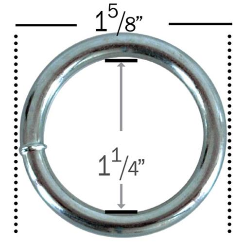 "Hodge Products Inc 39209 3/16"" Zinc plated Welded Solid Steel O-Ring-LockPeople.com"