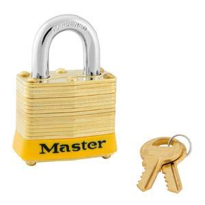 Master Lock 4 Laminated Brass Padlock 1-9/16in (40mm) Wide-Keyed-LockPeople.com