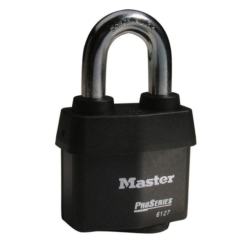 Master Lock 6127 ProSeries® Weather Tough® Laminated Steel Rekeyable Padlock 2-5/8in (67mm) Wide-Keyed-LockPeople.com