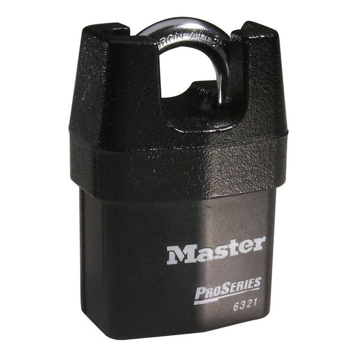 Master Lock 6321 ProSeries® Shrouded Laminated Steel Rekeyable Padlock 2-1/8in (54mm) Wide