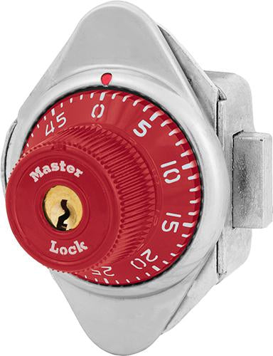 Master Lock 1671MD Built-In Combination Lock with Metal Dial for Lift Handle, Single Point and Box Lockers - Hinged on Left-LockPeople.com