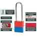 American Lock A1107 Anodized Aluminum Safety Padlock, 1-1/2in (38mm) Wide with 3in (76mm) Tall Shackle-Keyed-LockPeople.com