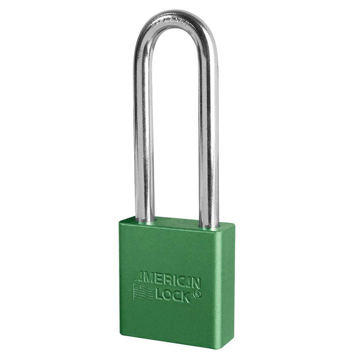 American Lock A1207 1-3/4in (44mm) Solid Aluminum Rekeyable Padlock with 3in (76mm) Shackle-Keyed-LockPeople.com