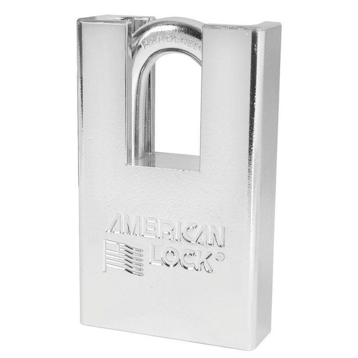 American Lock A5360 Shrouded Solid Steel Rekeyable Padlock 2in (51mm) Wide-Keyed-LockPeople.com