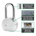 American Lock A701 2-1/2in (64mm) Solid Steel Rekeyable Padlock, Chrome Plated, with 2in (51mm) Shackle-Keyed-LockPeople.com