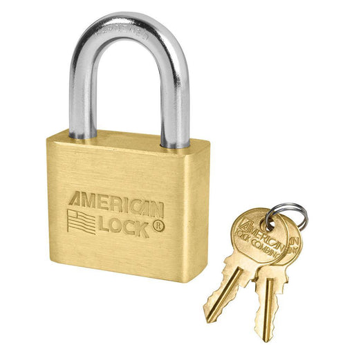 American Lock AL50 Solid Brass Blade Tumbler Padlock 1-3/4in (44mm) Wide-Keyed-LockPeople.com