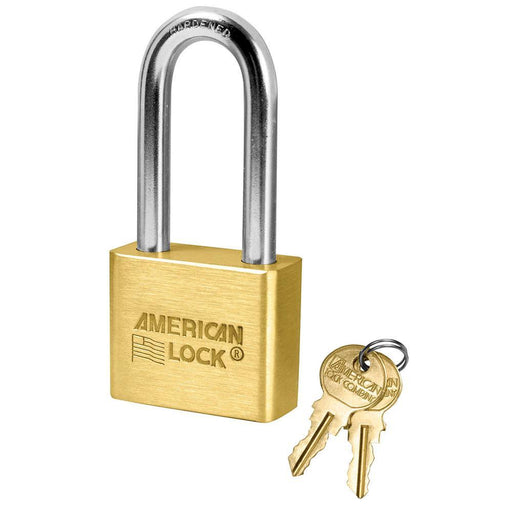 American Lock AL51 1-3/4in (44mm) Solid Brass Blade Tumbler Padlock with 2in (51mm) Shackle-Keyed-LockPeople.com