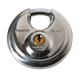 Master Lock 40DPF Stainless Steel Discus Padlock with Shrouded Shackle 2-3/4in (70mm) Wide-Keyed-LockPeople.com