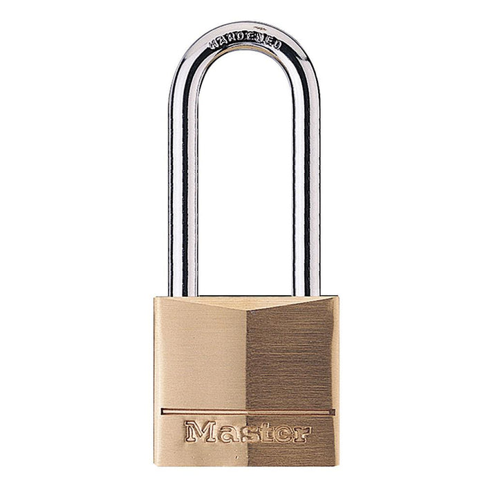 Master Lock 140D 1-9/16in (40mm) Wide Solid Brass Body Padlock with 2in (51mm) Shackle-Keyed-LockPeople.com