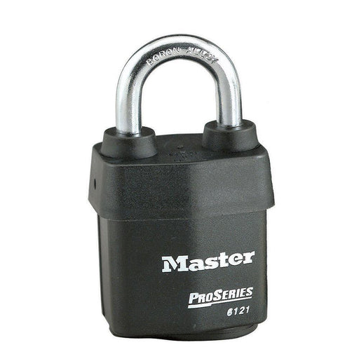 Master Lock 6121 ProSeries® Weather Tough® Laminated Steel Rekeyable Padlock 2-1/8in (54mm) Wide-Keyed-LockPeople.com