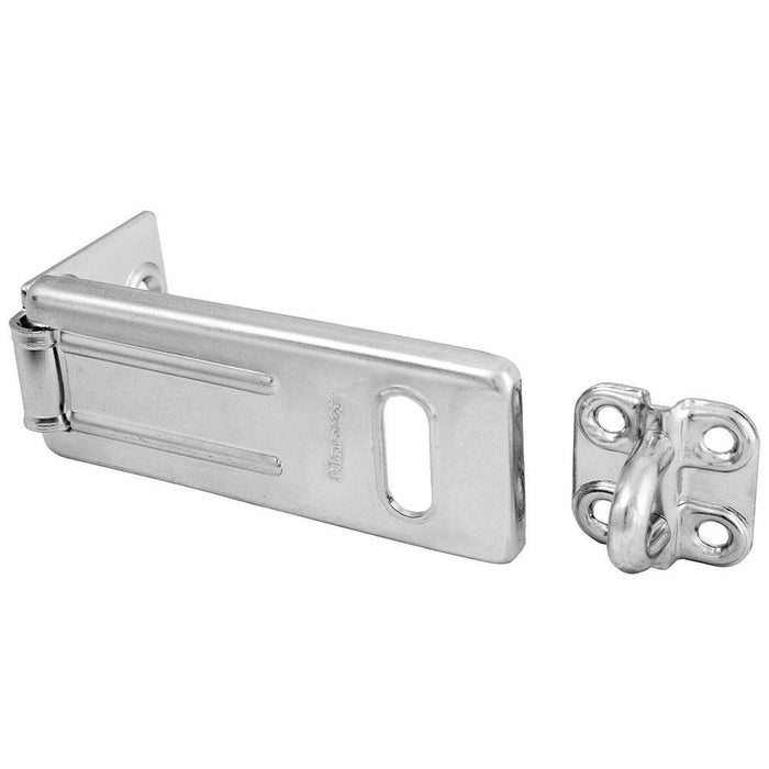 Master Lock 703D Long Zinc Plated Hardened Steel Hasp with Hardened Steel Locking Eye 3-1/2in (89mm) Wide-Other Security Device-LockPeople.com
