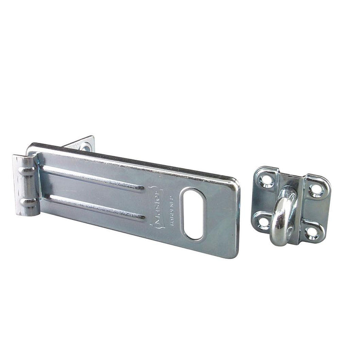 Master Lock 706D 6in (15cm) Long Zinc Plated Hardened Steel Hasp with Hardened Steel Locking Eye-Other Security Device-LockPeople.com