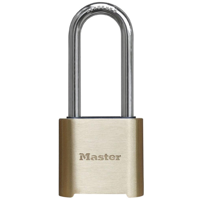 Master Lock 975DLHCOM Resettable Combination Brass Padlock 2in (51mm) Wide-Combination-LockPeople.com