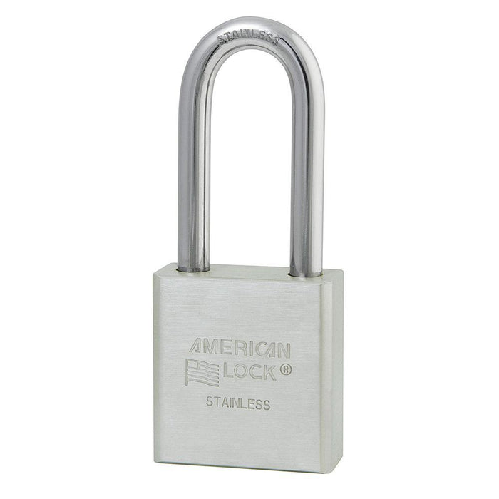 American Lock A6461 2in (51mm) Solid Stainless Steel 6-Padlock with 2in (51mm) Shackle