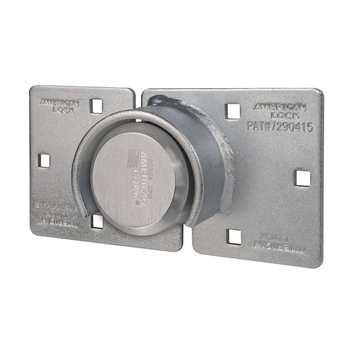 American Lock A801LHC Solid Steel Rekeyable 6-Hidden Shackle Padlock with Attached High Security Hasp 2-7/8in (73mm) Wide-Keyed-LockPeople.com