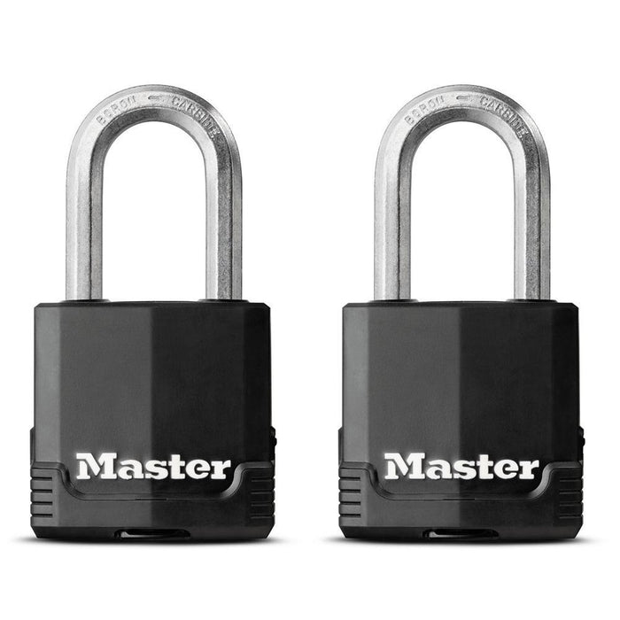 Master Lock M115XTHC 1-7/8in (48mm) Wide Magnum® Covered Laminated Steel Padlock ; 2 Pack