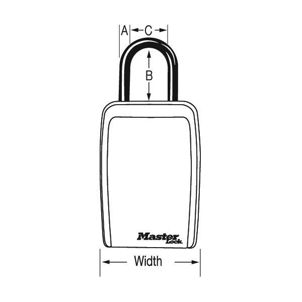 Master Lock 5422D Set Your Own Combination Push Button Portable Lock Box 3-1/8in (79mm) Wide
