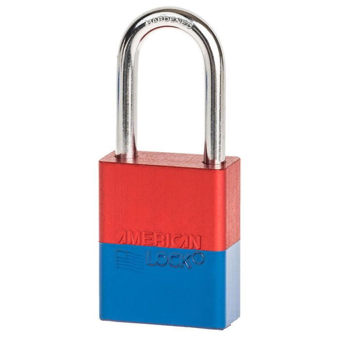American Lock A1106 Anodized Aluminum Safety Padlock, 1-1/2in (38mm) Wide with 1-1/2in (38mm) Tall Shackle-Keyed-LockPeople.com