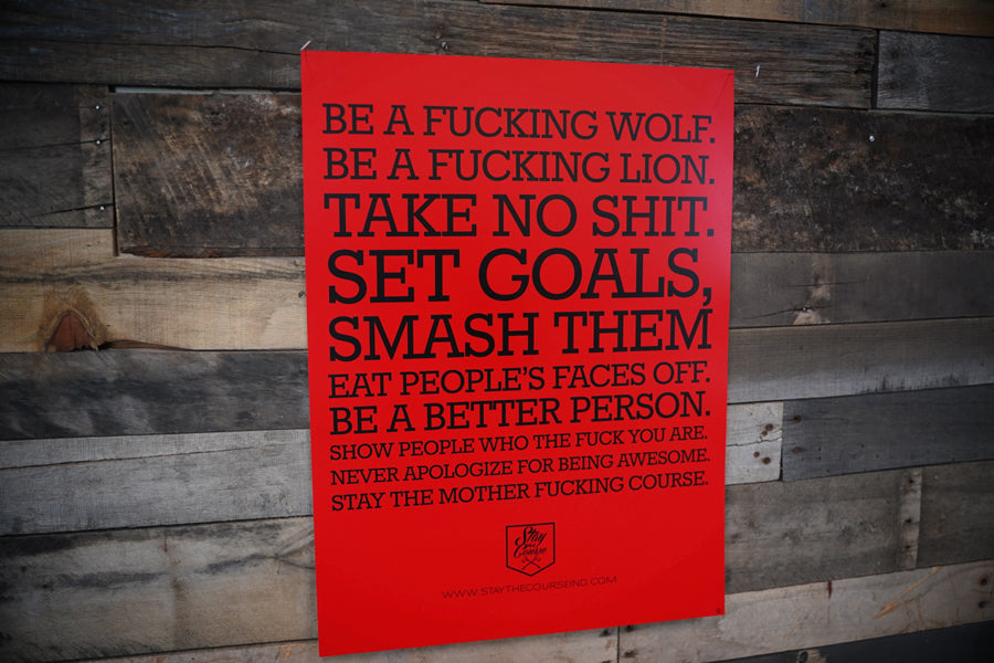 Stay The Course Manifesto Poster (Red/Black)