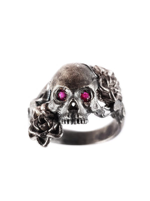 Skull Ring | Double Rose
