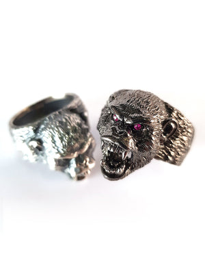 Beast Ring |  Snarling Monkey | Chimpanzee