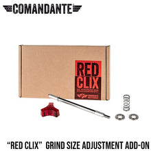 Load image into Gallery viewer, Comandante Red Clix - RX35 Precision Thread Grind Adjustment Add-on