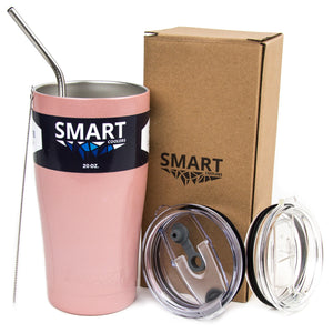 Tumbler 20oz: Double Wall Stainless Steel Cup - Rose Gold