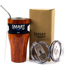 Load image into Gallery viewer, Tumbler 30oz: Double Wall Stainless Steel Cup - Wood Grain