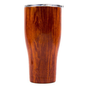 Tumbler 30oz: Double Wall Stainless Steel Cup - Wood Grain