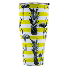 Load image into Gallery viewer, Tumbler 30oz: Double Wall Stainless Steel Cup - Pineapple