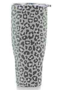 Tumbler 30oz: Double Wall Stainless Steel Cup - Animal Print