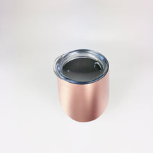 Load image into Gallery viewer, Stainless Steel 12oz Wine Tumbler:  Rose Gold