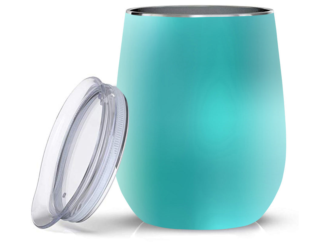 Stainless Steel 12oz Wine Tumbler:  Turquoise