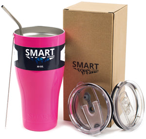 Tumbler 30oz: Double Wall Stainless Steel Cup Neon Pink