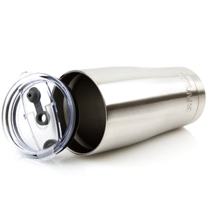 Tumbler 30oz: Double Wall Stainless Steel Cup Silver