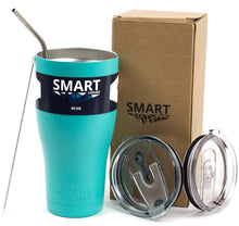 Load image into Gallery viewer, Tumbler 30oz: Double Wall Stainless Steel Cup Teal