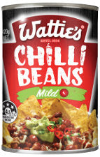 Watties Chilli Beans Mild 420g